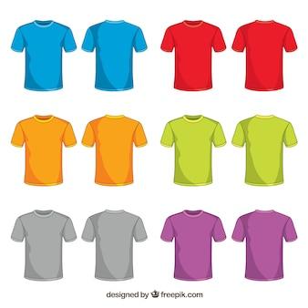 2d bunte t-shirt sammlung mit handgezeichneten stil