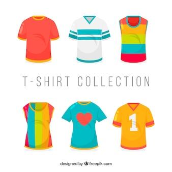 2d t-shirt sammlung in verschiedenen farben