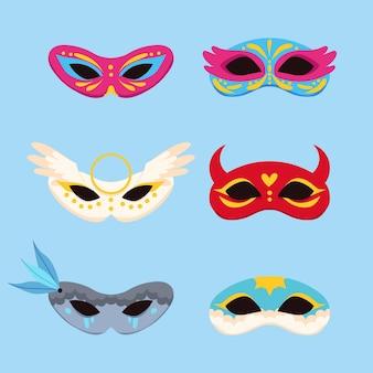 2d venezianische karnevalsmasken sammlung
