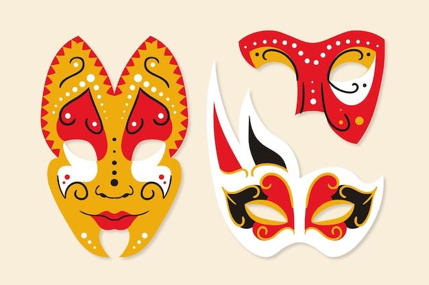 2d venezianische karnevalsmasken