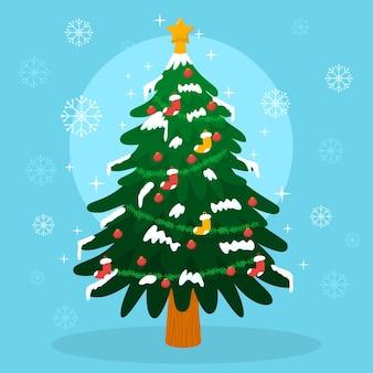 2d weihnachtsbaumillustration
