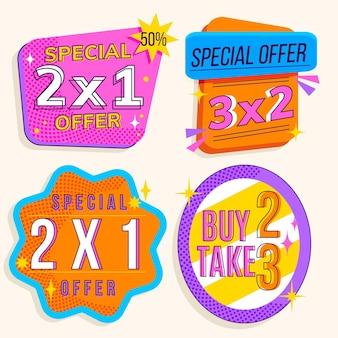 2x1 promotion labels gesetzt