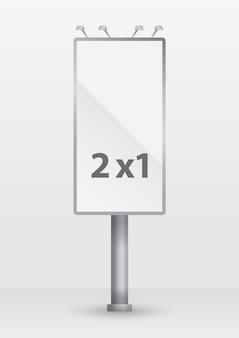 2x1 vertikale billboard-vektor-modell