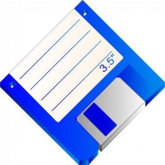 3,5 diskette blau markierten