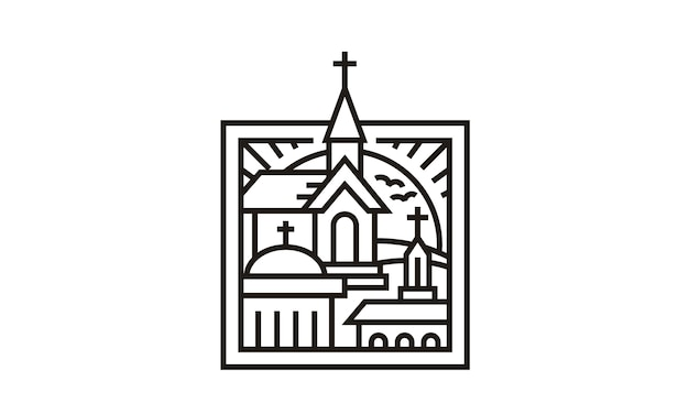 3 kirchen im rahmen-logo-design