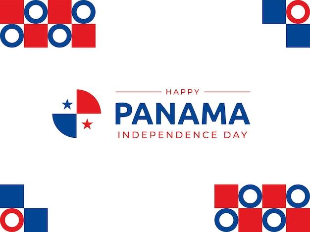3 november panama unabhängigkeitstag hintergrund vektorbild