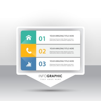 3 optional infografik mit marketing-symbole