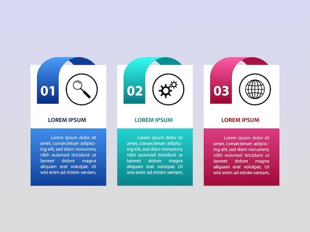 3 schritte vektor infographis