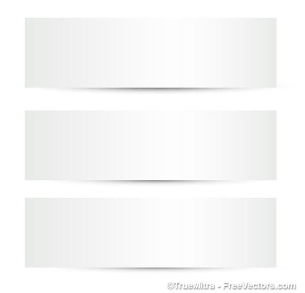3 weiße banner