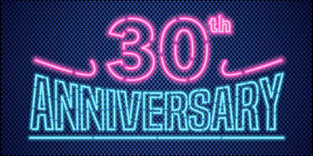 30 jahre jubiläum vektor-illustration, banner