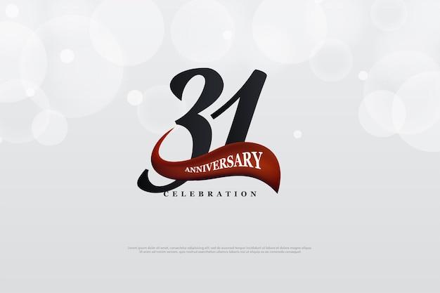 31-jähriges jubiläum mit einzigartiger nummernflach-edition