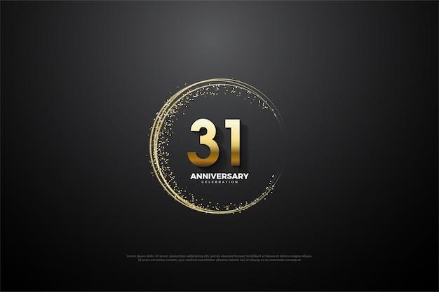 31. jubiläum mit goldveredelung dekoration edition