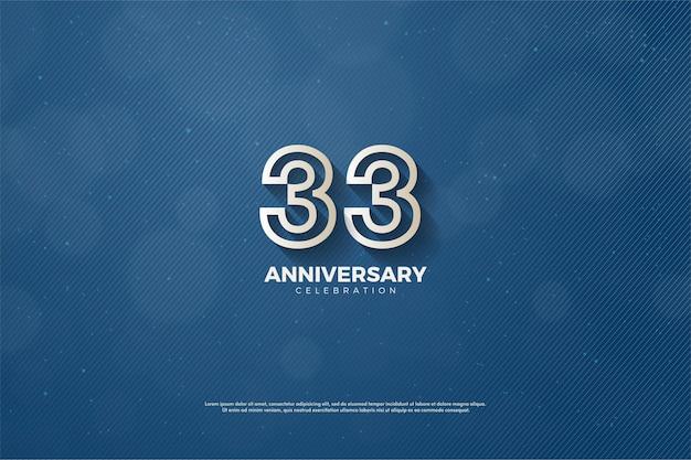 33-jähriges jubiläum mit modernem zifferndesign