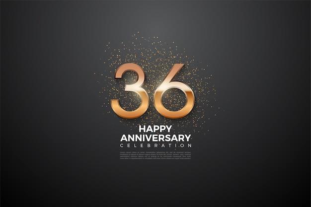 36-jähriges jubiläum mit glänzenden zahlen