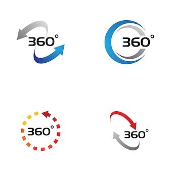 360-grad-ansicht verwandte vektor-icons-design-vorlage