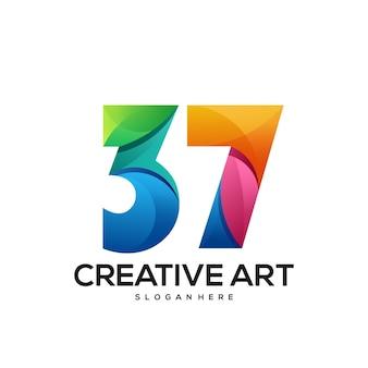 37 logo farbverlauf buntes design