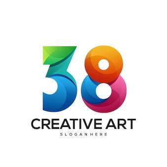 38 logo farbverlauf buntes design
