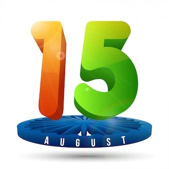 3d 15 mit ashok chakra zum unabhängigkeitstag