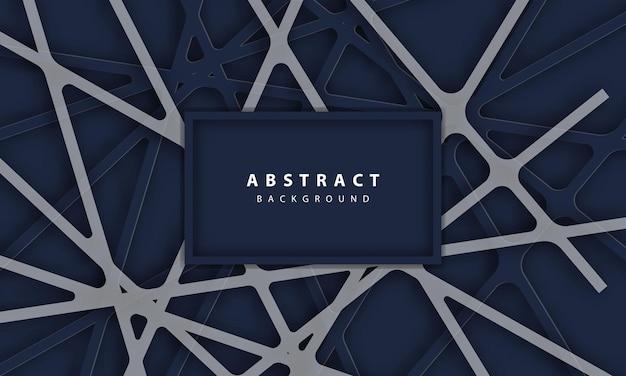 3d-abstrakte rotlicht-sechskantlinie in grauer, moderner, futuristischer luxus-hintergrundvektorillustration.