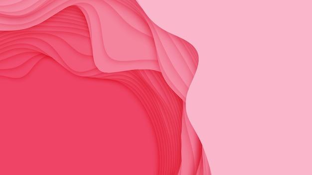 3d abstrakter hintergrund mit papierschnittform