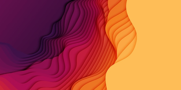 3d abstrakter hintergrund mit papierschnittformen