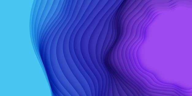 3d abstrakter hintergrund mit papierschnittformen.