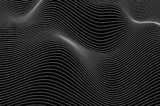3d abstrakter wellenmusterhintergrund