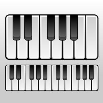 3d aussehende klaviertasten