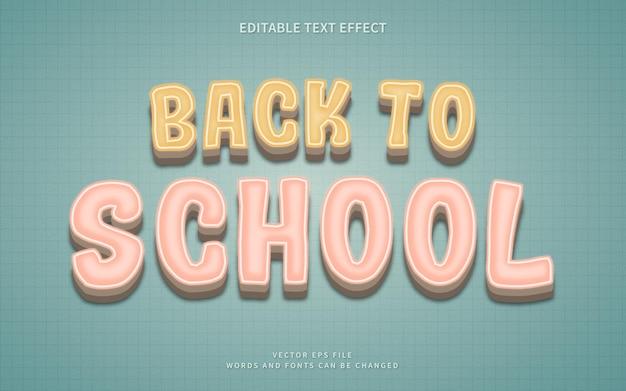 3d back to school-texteffekt mit vintage-stil