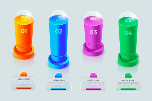 3d bars infografik
