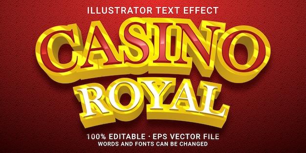 3d bearbeitbarer texteffekt - casino royal style