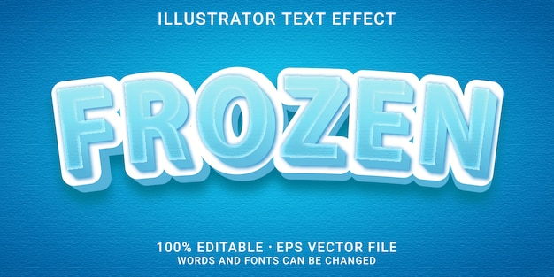 3d-bearbeitbarer texteffekt - eingefrorener stil