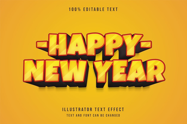 3d bearbeitbarer texteffekt gelbe abstufung orange comic-textstil