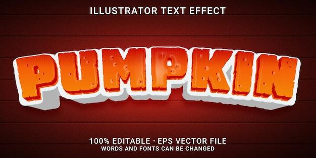 3d-bearbeitbarer texteffekt - pumpkin-stil