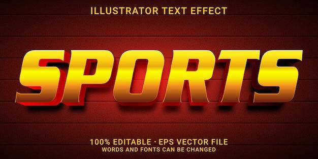 3d-bearbeitbarer texteffekt - sport-stil