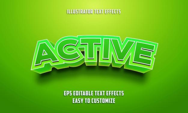 3d bearbeitbarer texteffektstil Premium Vektoren