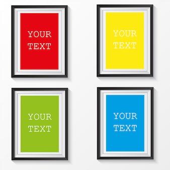 3d-bilderrahmen-design für a4-bild oder text.