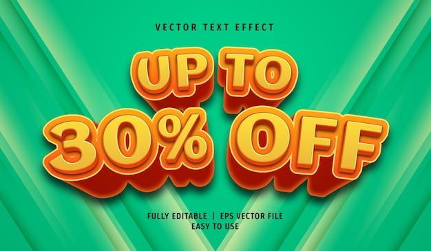 3d bis zu 30% rabatt auf texteffekt, bearbeitbarer textstil