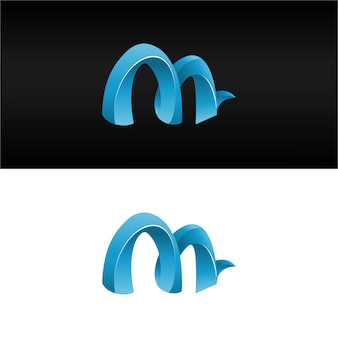 3d-buchstaben m logo modernen kostenlosen download