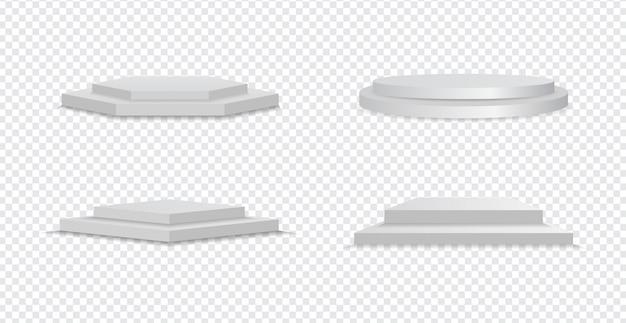 3d-bühne, szene in verschiedenen formen.