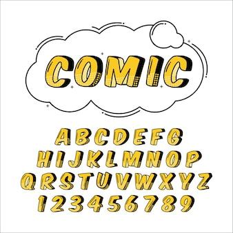 3d comic alphabet gesetzt