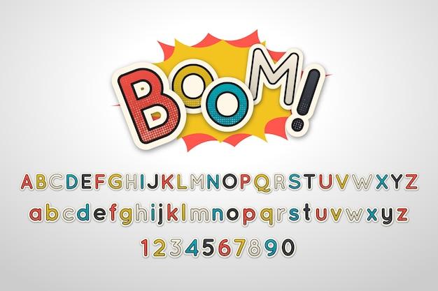 3d comic alphabet style