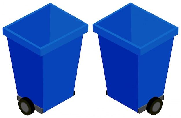 3d-design für mülleimer mit rädern