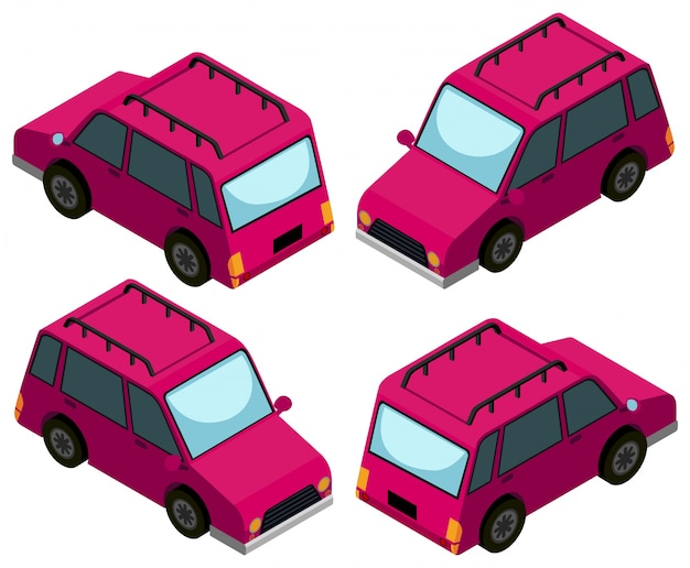 3d-design für rosa autos