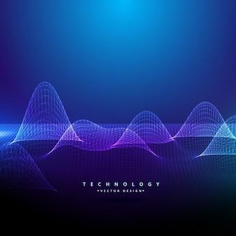 3d digital beleuchtete mesh in technologie-stil
