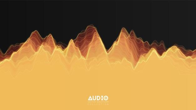 3d-echo-audiowelle aus dem spektrum
