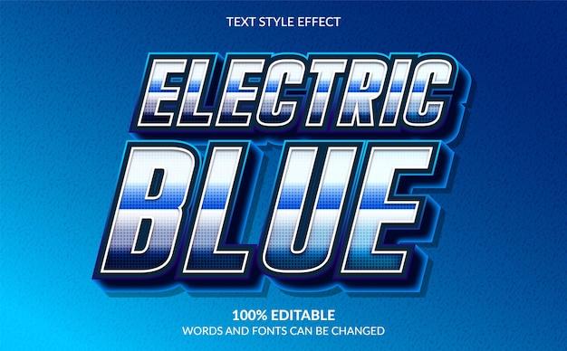 3d-effekt im modernen textstil mit blauer farbe