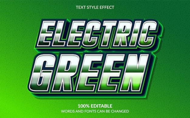3d-effekt im modernen textstil mit grüner farbe