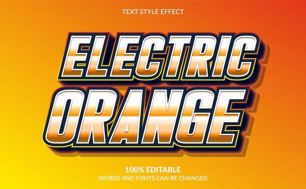 3d-effekt im modernen textstil mit oranger farbe