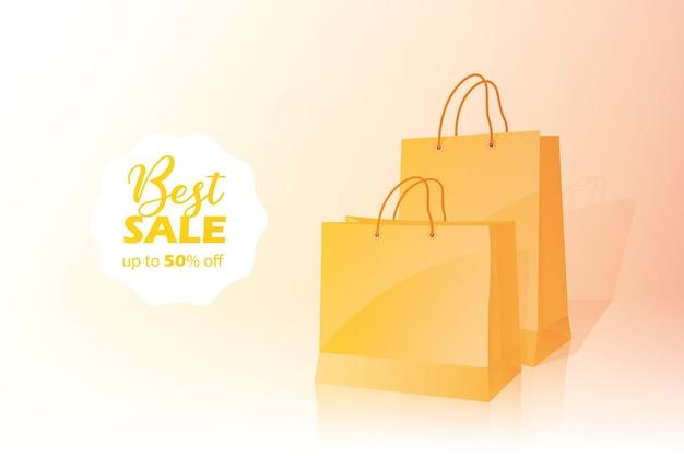 3d-einkaufstasche best sale banner rabatt mit fünfzig 50 prozent rabatt